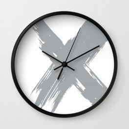 cross gray #2 Wall Clock