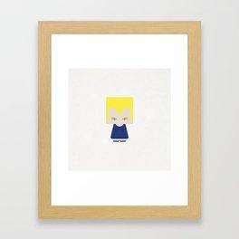 VEGETA Framed Art Print