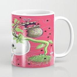Skull Cachepot with Carnivorous Plants Coffee Mug