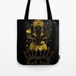 Golden Ganesha Tote Bag