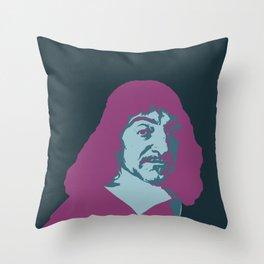 Rene Descartes Throw Pillow