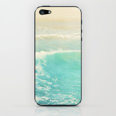 beach ocean wave. Surge. Hermosa Beach photograph iPhone & iPod Skin