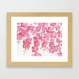 Weeping Cherry Blossom Framed Art Print