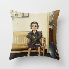 Loki Outside the Principal's Office Throw Pillow