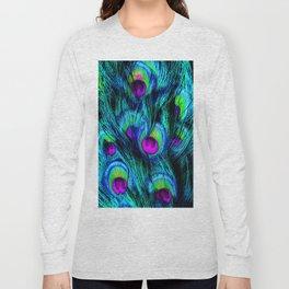 Peacock or Flower 1 Long Sleeve T-shirt