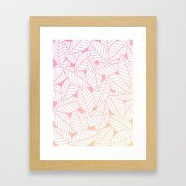 Leaves in Sunset Framed Art Print