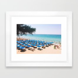 Grecian Beachin' Framed Art Print