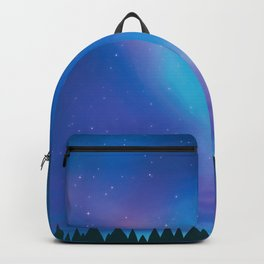 Aurora Borealis Forest Backpack