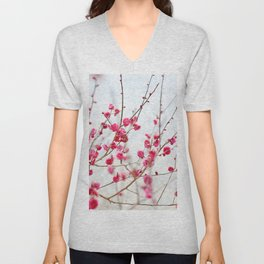 Beautiful Cherry Blossoms at the Imperial Palace in Kyoto, Japan Unisex V-Neck