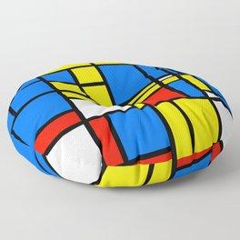 Mondrian Style Floor Pillow