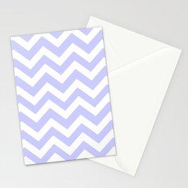 Lavender blue - grey color - Zigzag Chevron Pattern Stationery Cards