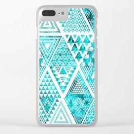 Triangulated Clear iPhone Case