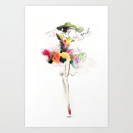 woman fashion Art Print