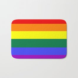 Gay pride flag Bath Mat