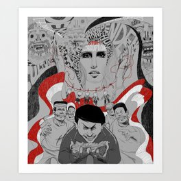Corruption and Nepotism! Art Print