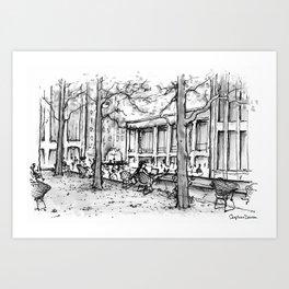 Lincoln Center, Summer Art Print