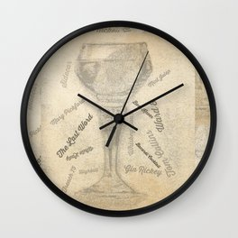 Prohibition Cocktails Wall Clock
