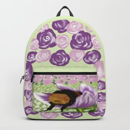 Bee Butt In A Purple Tulip Backpack