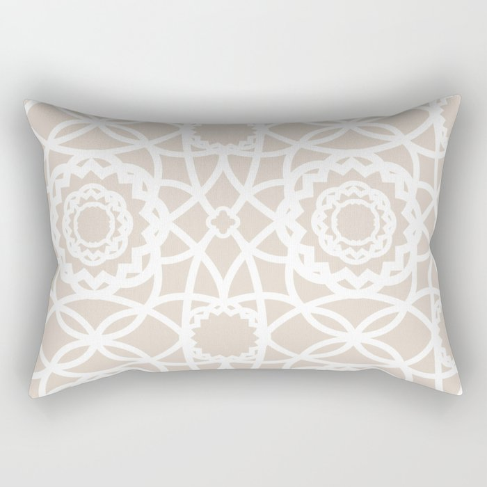 Palm Springs Macrame Lattice Lace Rectangular Pillow