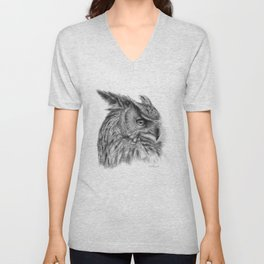 Eagle Owl G085 Unisex V-Neck