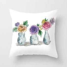 Three Vases Throw Pillow