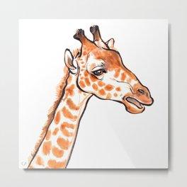 Zuri the Giraffe Metal Print