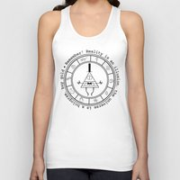 bill cipher Tank Tops featuring Bill Cipher - Light by Flora