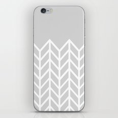 LACE CHEVRON (GRAY) iPhone & iPod Skin