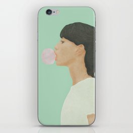 Blowing Bubble Gum iPhone Skin