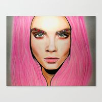 cara Canvas Prints featuring CARA by Zayn Al-Qahtani