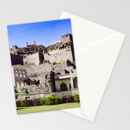 Looking up at Golconda Fort in Hyderabad, India Stationery Cards