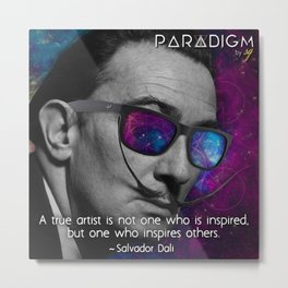 Dali with Bans... in Space Metal Print