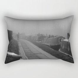 London Fog in Regents Canal III  by Diana Eastman Rectangular Pillow