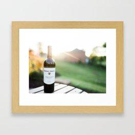 Wine and the Sunset: Landscape Framed Art Print