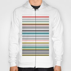 grey and colored stripes Hoody