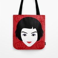 amelie Tote Bags featuring Amelie by Vivi Nabas