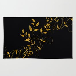 TREES VINES AND LEAVES OF GOLD Rug