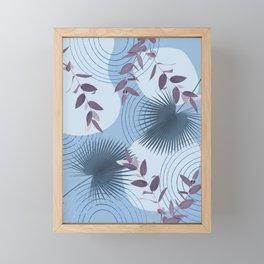 Blue Purple Abstract Shapes #1 #minimal #tropical #decor #art #society6 Framed Mini Art Print