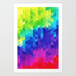 Abstract LGBT Pattern Art Print