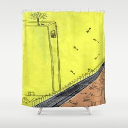 The Other Side of the Tracks Shower Curtain