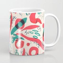 abstract brush & cats Coffee Mug