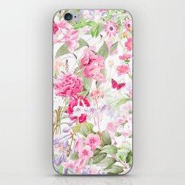 Vintage & Shabby Chic - Pastel Spring Flower Medow iPhone Skin