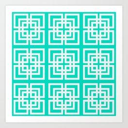 Tiled Mint Art Print
