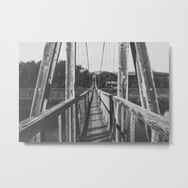 Black and White Bridge - Kauai, Hawaii Metal Print