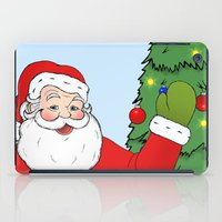 santa iPad Cases featuring Santa by Caz Haggar