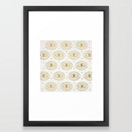 Evil Eyes Gold Framed Art Print