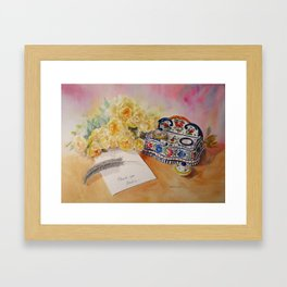 Thank you from Beatrice Framed Art Print