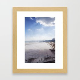 Frozen Lake Michigan!  Framed Art Print