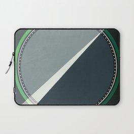 London - green circle Laptop Sleeve