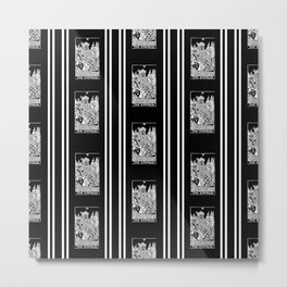 Black and White Repeating Striped Pattern - The Empress Metal Print